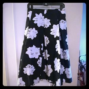 Lane Bryant Skirts - Black and white circle skirt